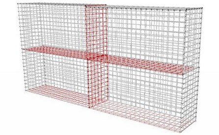 gabion fence seat idea