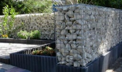 Stone Gabion Baskets Limestone Walls Garden Landscaping