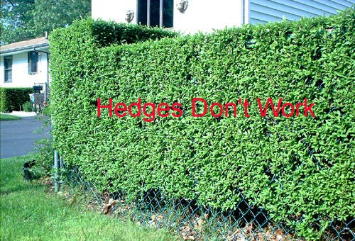 Hedge poor noise control reduction