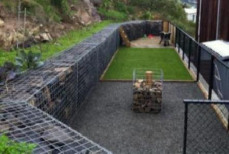 gabion stone fencing ideas gabion fence seat idea - Gabion Walls Design