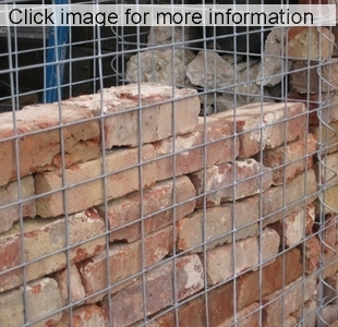 Brick Wall Behind Gabion ...