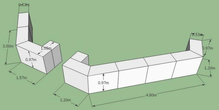 Gabion Wall Design Drawings : Gabion design service retaining wall for builders garden uk