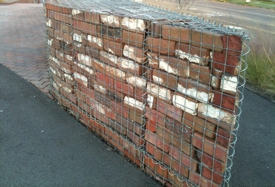 small recycled gabion bricks