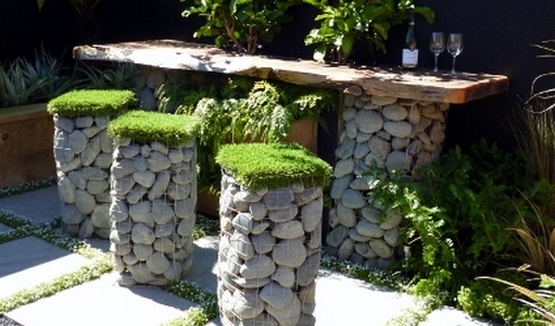 Gabion baskets and Garden landscaping ideas Ellerslie UK