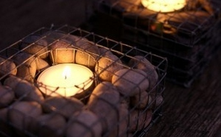 gabion candle outdoor lighting