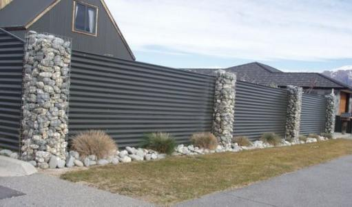 gabion fence pillars