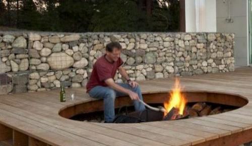 Gabion Outdoor Fireplaces Garden landscaping rocks UK