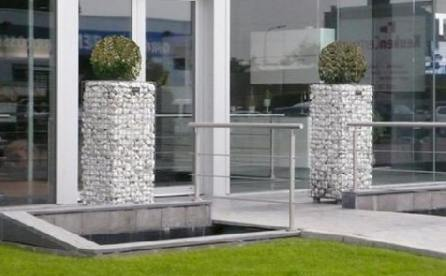 gabion planter column idea