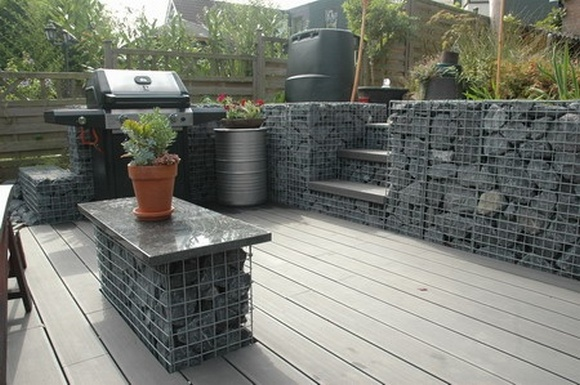 Gabion retaining walls Stone wall ideas Gabion1 UK