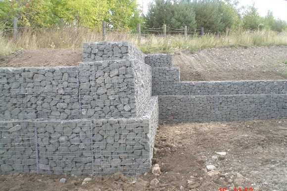 Gabion Retaining Wall Construction 6