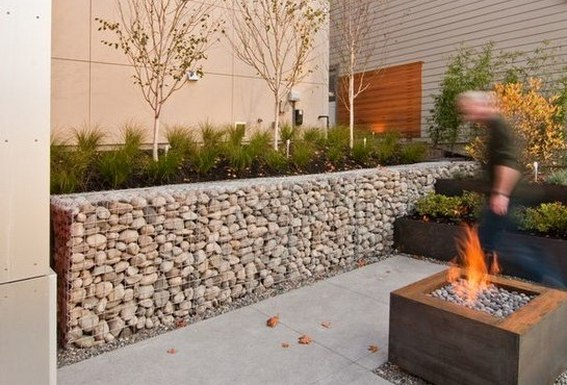 Garden Stone Wall Ideas Stone Block Walls Design Gabion1 UK
