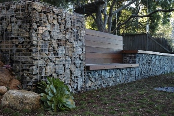 gabion retaining wall simple low cost retaining
