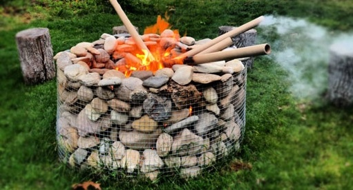 gabion simple firepit
