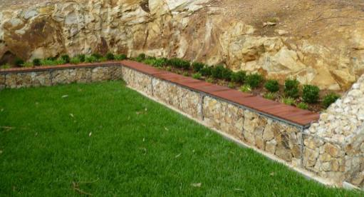 gabion stone fencing ideas