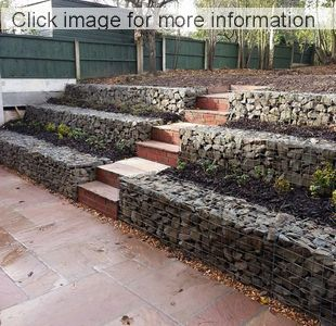 gabion terraced garden