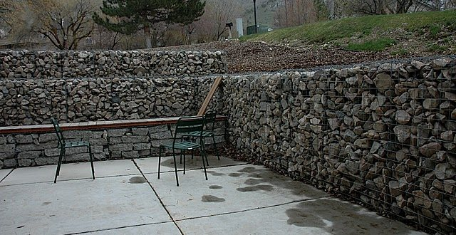 Concrete Block Retaining Wall Design modern 4 concrete retaining wall design example on retaining wall design example Stone Gabion Retaing Wall