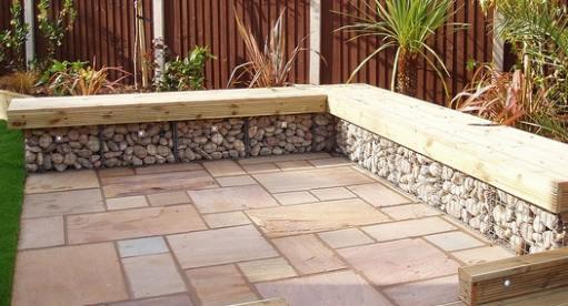Gabion landscaping Design Ideas Rocks Stone walls fences UK