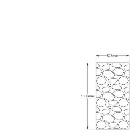 1050 x 525mm gabion profile