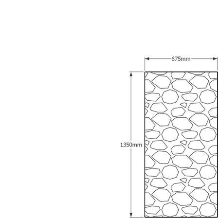 1350 x 675mm gabion profile