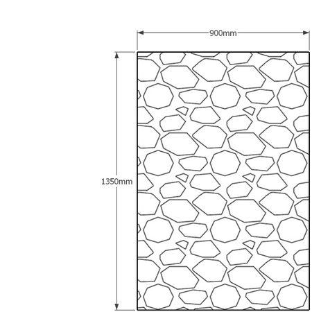 11350 x 900mm gabion profile