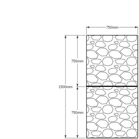 1500 x 750mm gabion profile
