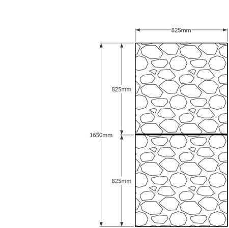 1650 x 825mm gabion profile