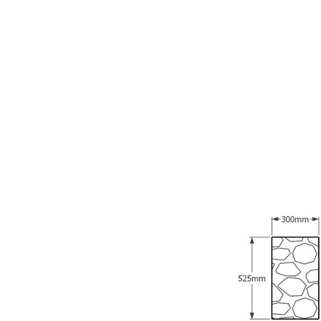 525 x 300mm gabion profile