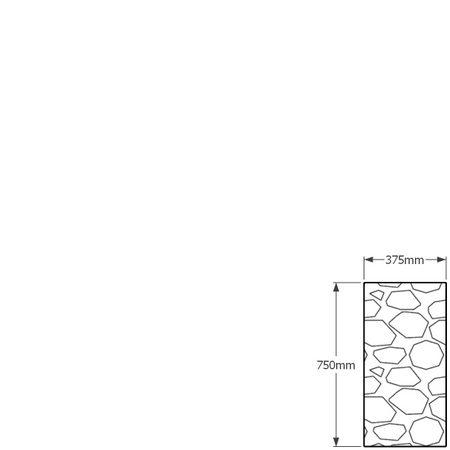 750 x 375mm gabion profile