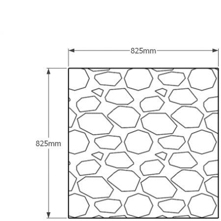 825 x 852mm gabion profile