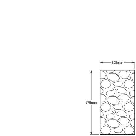 975 x 525mm gabion profile