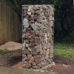 gabion gate pillar