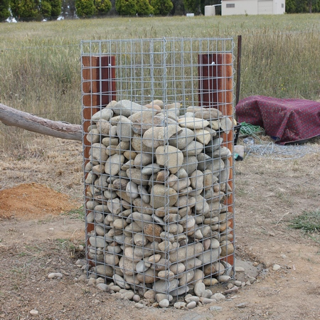 gabion support posts external
