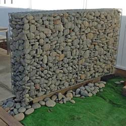 free standing gabion wall