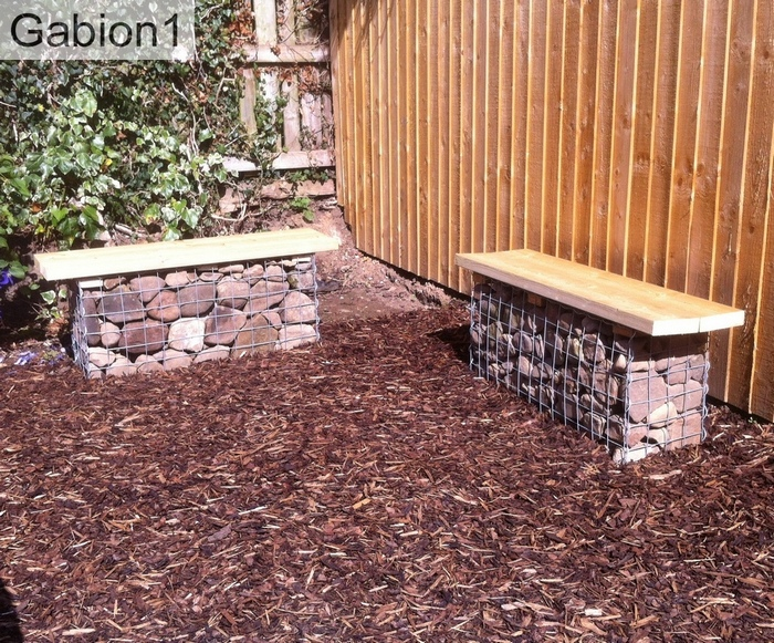 brick coloured rock gabions