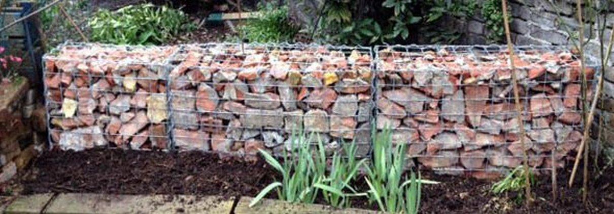 Garden Brick Stone Wall Design Ideas Gabion1 Uk
