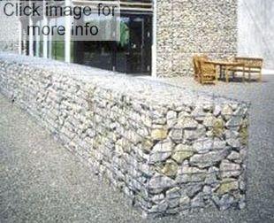 gabion stone fence