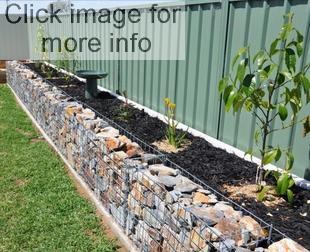 gabion planter retaining