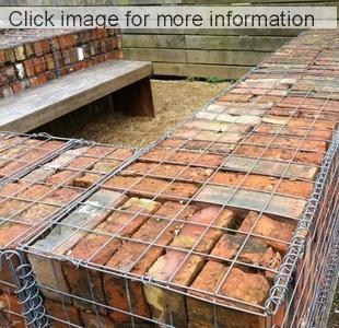 old brick gabions