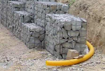 gabion drainage pipe