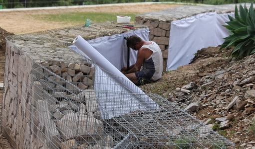 geotech fabric installation