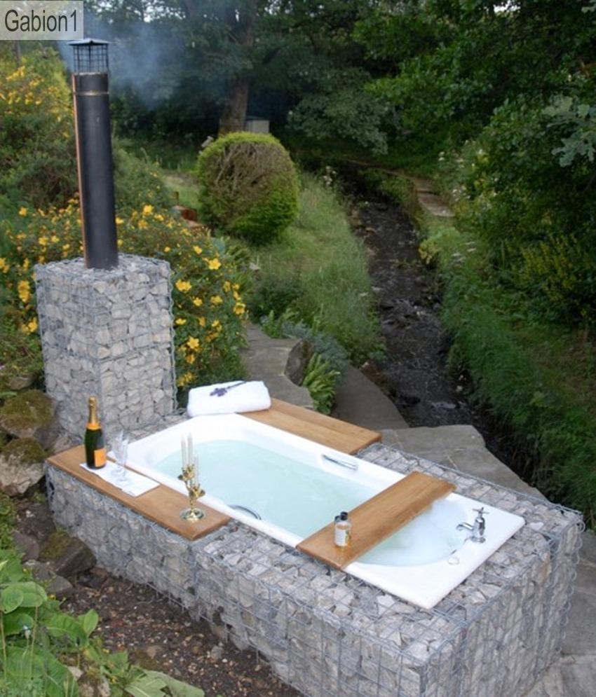 gabion outdoor bath