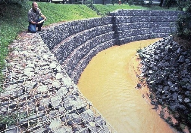 gabions used for erosion control