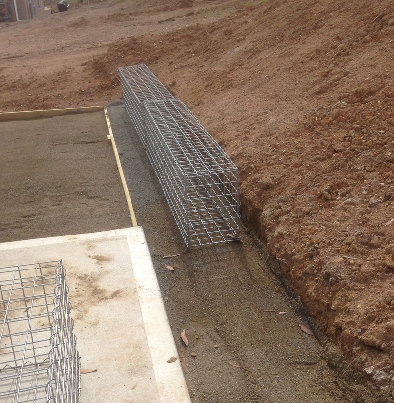gabion foundation leveling