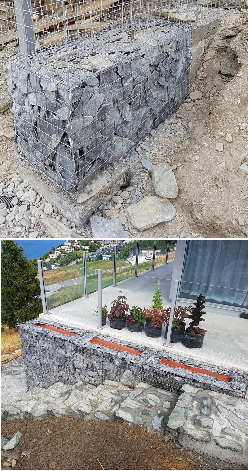 stepped gabion foundation example