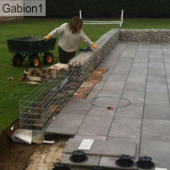 gabion wall construction
