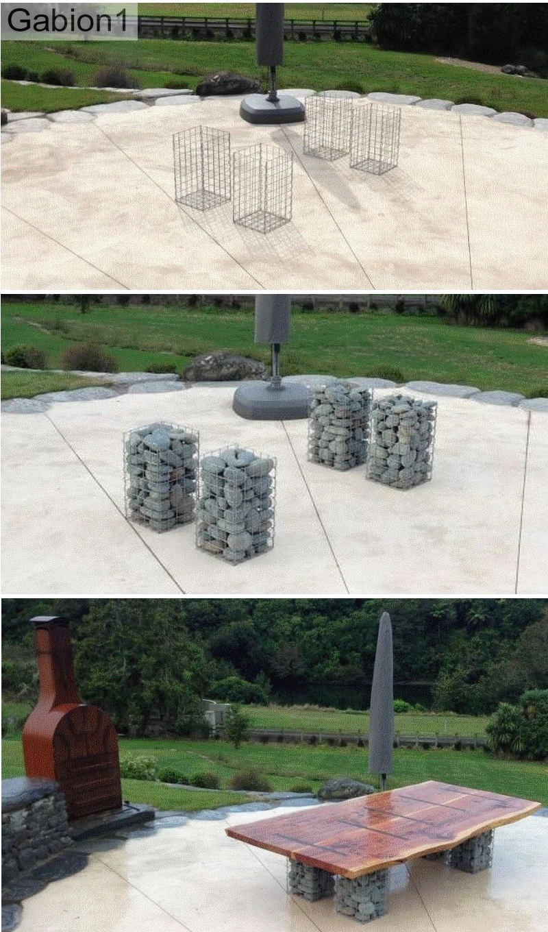 gabion outdoor dining table