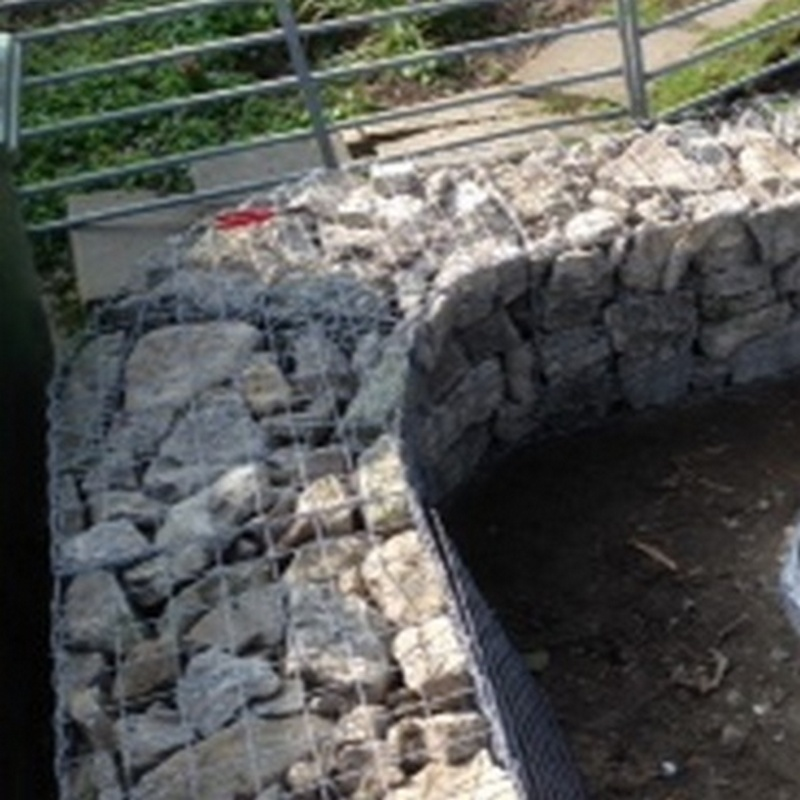 curved gabion corner