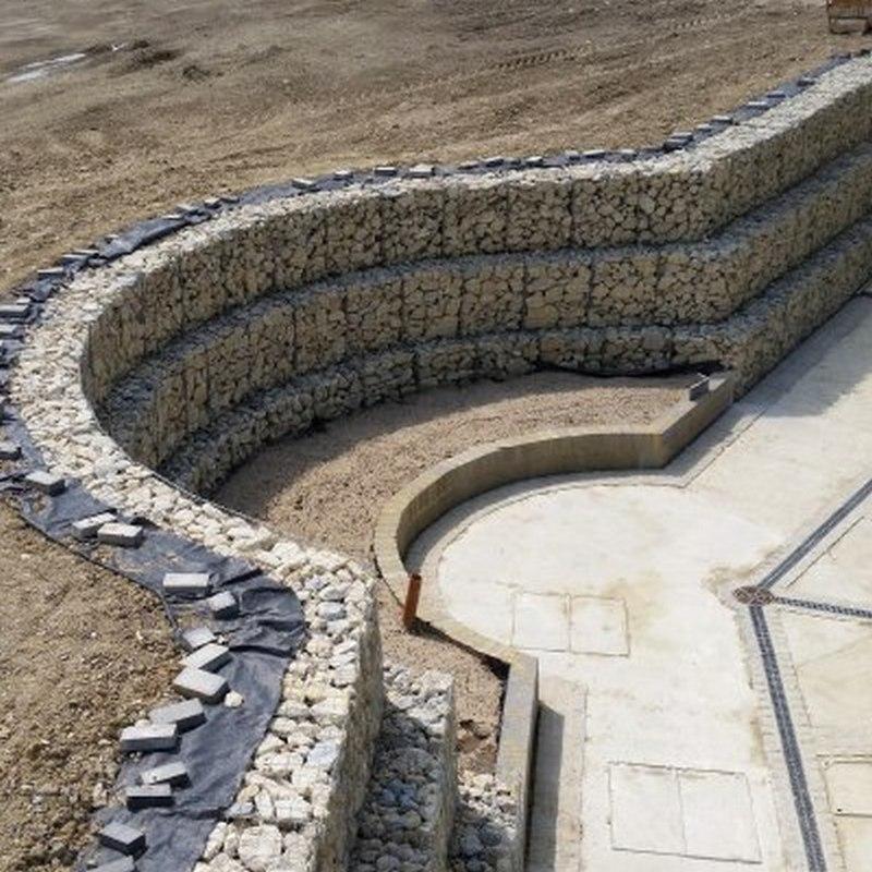 curved gabion walls