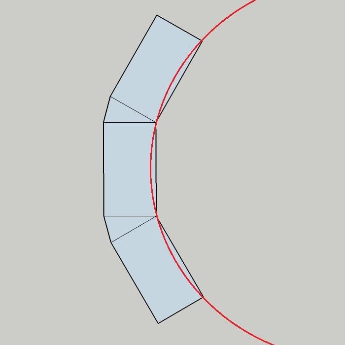 example of gabion curve setout