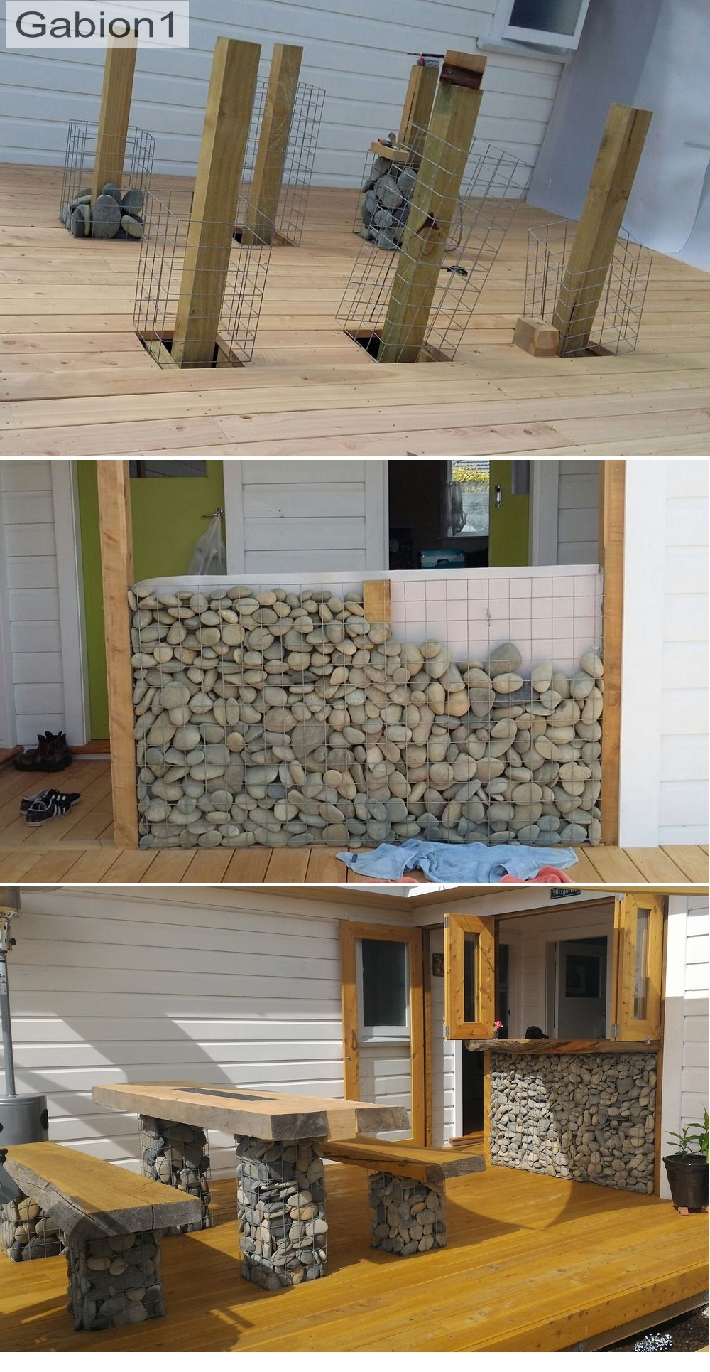 gabion bar seating